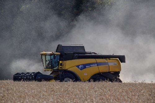 Foto van een New Holland CX 840. Geplaatst door jd7920 op 19-07-2018 om 22:55:24, op TractorFan.nl - de nummer 1 tractor foto website.