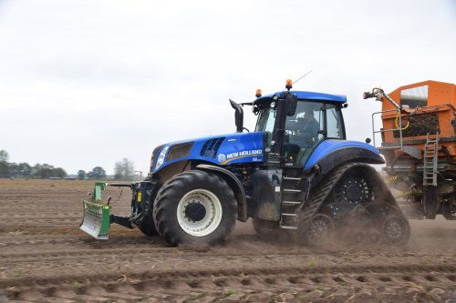 Akkerbouwer Van Oeckel met hun New Holland T 8.435. Geplaatst door jd7920 op 08-11-2018 om 01:07:33, op TractorFan.nl - de nummer 1 tractor foto website.