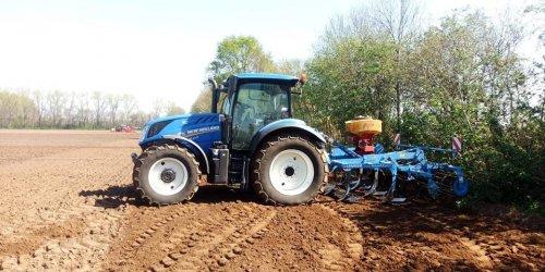 Foto van een New Holland T 6.125s bezig met land klaar leggen. Paar weken geleden. Geplaatst door NewHollandT6010 op 07-06-2019 om 15:45:21, op TractorFan.nl - de nummer 1 tractor foto website.