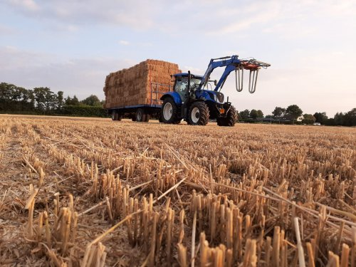 Foto van een New Holland T 6.145. Geplaatst door jeet op 07-08-2019 om 21:00:58, op TractorFan.nl - de nummer 1 tractor foto website.