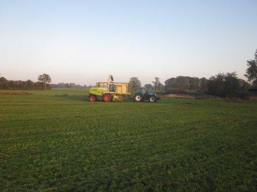 Foto van een New Holland T 7030. Geplaatst door jordi 1455 op 07-11-2019 om 19:19:53, op TractorFan.nl - de nummer 1 tractor foto website.