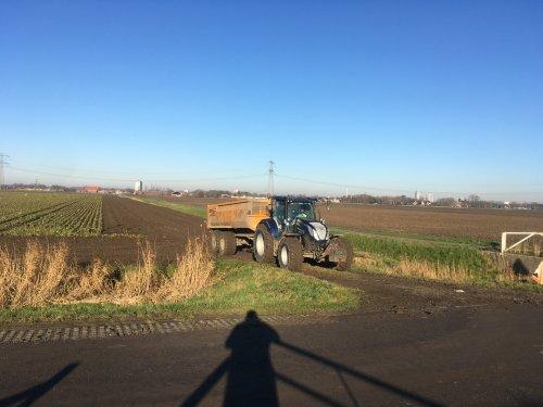 Foto van een New Holland T 6.175 van Mts. Van Bergeijk (Hekelingen) ×. Cichorei rijden. Geplaatst door Daanfordje op 07-03-2020 om 19:45:13, op TractorFan.nl - de nummer 1 tractor foto website.