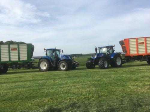 Foto van een New Holland T 7.245 van Loonbedrijf Lolkema (tijnje) ×.. Geplaatst door valmet8400power op 07-07-2020 om 19:12:54, op TractorFan.nl - de nummer 1 tractor foto website.