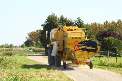 Foto van een New Holland TX 62, bezig met poseren.. Geplaatst door alfredo op 19-08-2012 om 12:28:21, op TractorFan.nl - de nummer 1 tractor foto website.