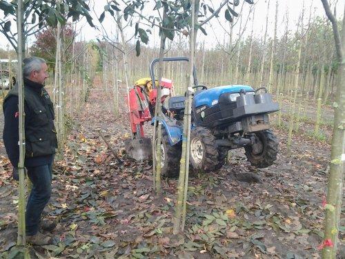 Foto van een New Holland TC21D, bezig met bomenrooien. zoals gewoonlijk met de veuras in de loch :D. Geplaatst door mp-jd6620 op 02-11-2012 om 19:29:00, met 3 reacties.