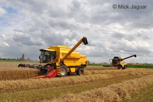 New Holland TX 65 van Sproei- en Loonwerken Kristof Willems uit Evergem (B), bezig met maaidorsen.. Geplaatst door Mick Jaguar op 05-01-2013 om 15:55:49, met 2 reacties.