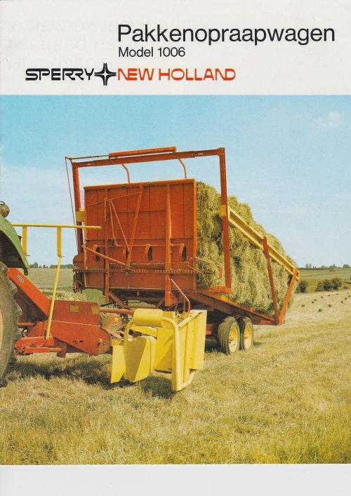 Foto van een New Holland Folder.   Heb diverse folders te koop staan: http://www.marktplaats.nl/verkopers/17696504.html