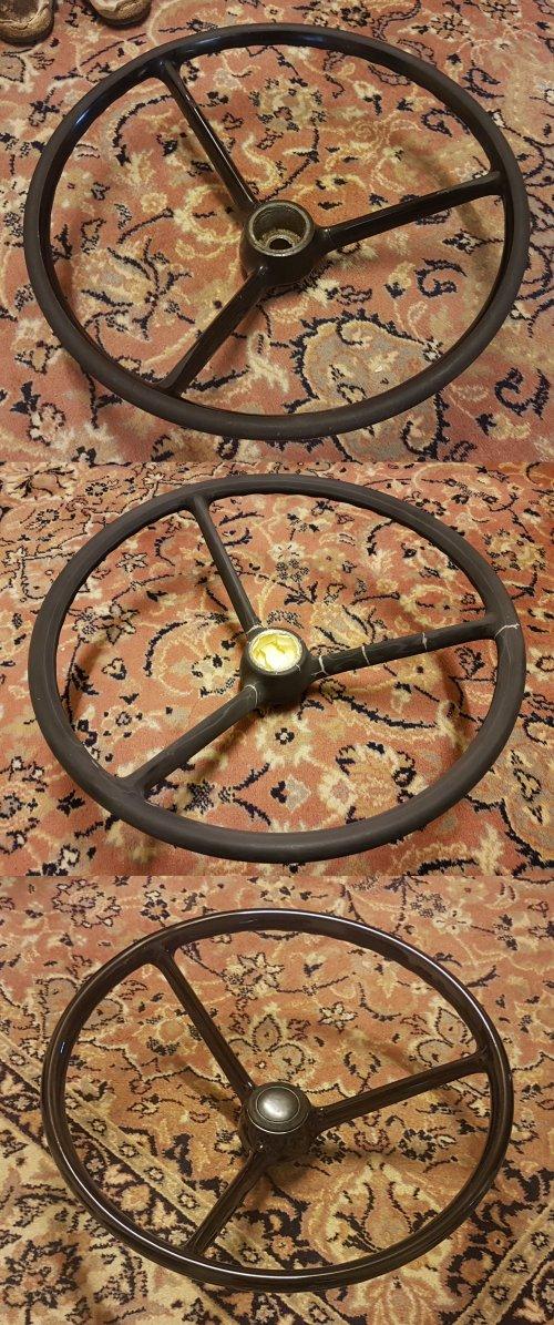 Pictures of the restauration process of an old plastic steering wheel.. Geplaatst door otto-normalverbraucher op 31-08-2019 om 17:10:17, met 4 reacties.