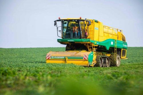 Ploeger EPD 540e aan het erwten dorsen. (2021). Geplaatst door FerreV op 05-07-2021 om 22:35:39, op TractorFan.nl - de nummer 1 tractor foto website.