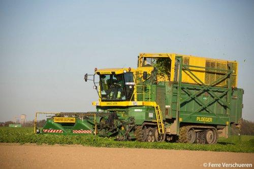 Hesbaye frost aan de gang met hun Ploeger MKC-4TR in de spinazie. (2016). Geplaatst door FerreV op 29-04-2016 om 15:00:45, op TractorFan.nl - de nummer 1 tractor foto website.