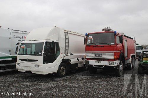 Foto van een Ponticelli Puncher, opgebouwd als vuilniswagen.. Geplaatst door Alex Miedema op 12-12-2018 om 15:55:54, op TractorFan.nl - de nummer 1 tractor foto website.