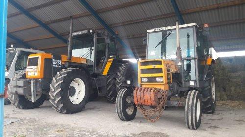 Foto van een Renault 155-54 en een 6512 LS. Geplaatst door tim-klok op 10-08-2018 om 09:03:24, op TractorFan.nl - de nummer 1 tractor foto website.
