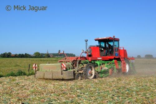 Riecam werktuigdrager met AMAC rooieenheid, bezig met uien te rooien. Loonbedrijf Paridaen uit Sint Kruis (NL)  Filmpje? -> https://www.tractorfan.nl/movie/46897/