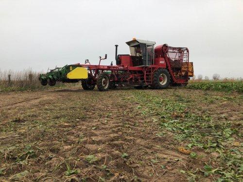 Foto van een Riecam RBM 230 aan het voederbieten. Geplaatst door jd 6620 op 25-11-2018 om 19:38:03, op TractorFan.nl - de nummer 1 tractor foto website.