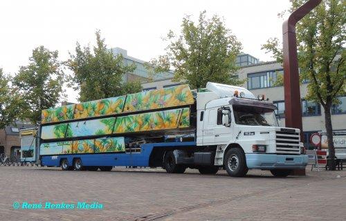 Foto van een Scania T113, opgebouwd voor speciaal transport.. Geplaatst door René op 04-09-2018 om 23:31:38, op TractorFan.nl - de nummer 1 tractor foto website.