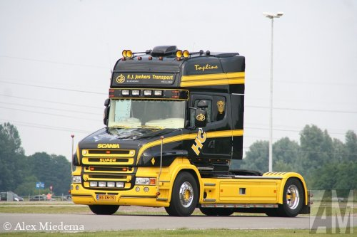 Foto van een Scania T580.. Geplaatst door Alex Miedema op 25-07-2014 om 23:00:48, op TractorFan.nl - de nummer 1 tractor foto website.