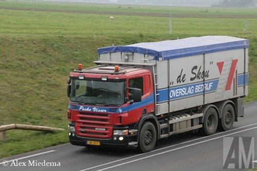 Foto van een Scania P380, opgebouwd voor bulktransport.. Geplaatst door Alex Miedema op 31-10-2014 om 16:18:37, op TractorFan.nl - de nummer 1 tractor foto website.