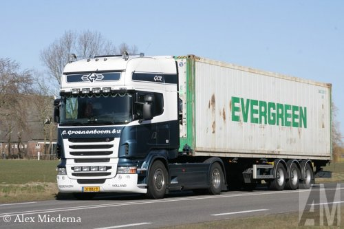Foto van een Scania R420, opgebouwd voor containertransport.. Geplaatst door Alex Miedema op 11-03-2015 om 17:03:06, op TractorFan.nl - de nummer 1 tractor foto website.