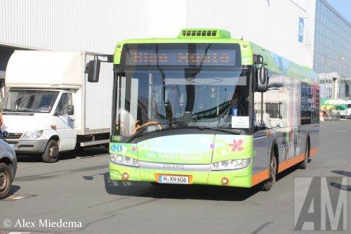 Foto van een Solaris Urbino 12, opgebouwd voor personenvervoer.. Geplaatst door Alex Miedema op 26-09-2016 om 21:26:35, op TractorFan.nl - de nummer 1 tractor foto website.