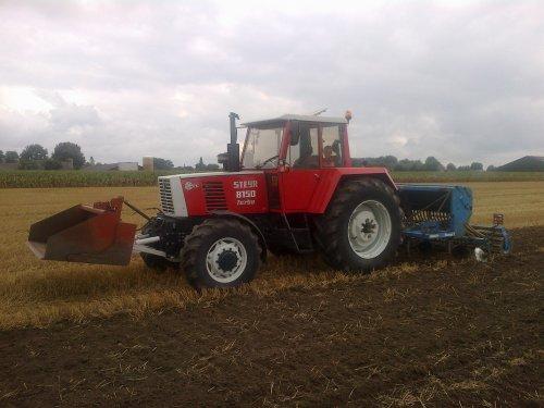 Foto van een Steyr 8150. groenbemester zaaien met steyr 8150. Geplaatst door steyr-wanroy op 03-09-2013 om 17:28:45, op TractorFan.nl - de nummer 1 tractor foto website.