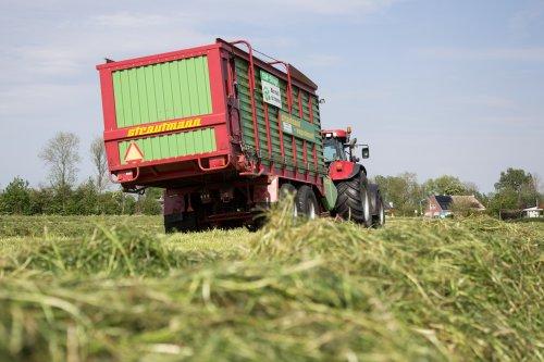Gras inkuilen door melkveebedrijf Wienia en loonbedrijf de Graaf uit Wierum.. Geplaatst door Zetor 3511 op 22-06-2017 om 20:30:58, op TractorFan.nl - de nummer 1 tractor foto website.