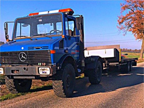 Foto van een Unimog U1450. Geplaatst door markvdboer op 17-11-2018 om 18:42:28, op TractorFan.nl - de nummer 1 tractor foto website.