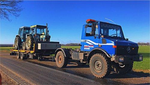 Foto van een Unimog U1450 mooi transportje gehad 👌🏻👌🏻 Ford 7700 en een 4610. Geplaatst door markvdboer op 02-03-2019 om 20:07:51, met 2 reacties.