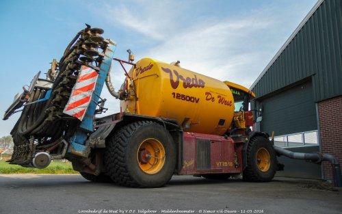 Loonbedrijf de West met hun Vredo VT 2516.. Geplaatst door Simco vd Deure op 26-10-2017 om 10:19:32, op TractorFan.nl - de nummer 1 tractor foto website.