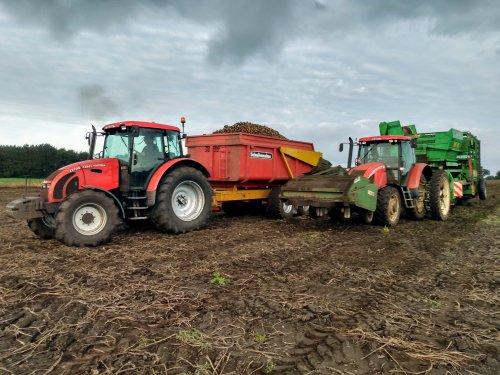 Foto van een Zetor meerdere bezig met aardappels rooien💪. Geplaatst door zetordrivertimo op 16-09-2019 om 20:33:07, met 4 reacties.
