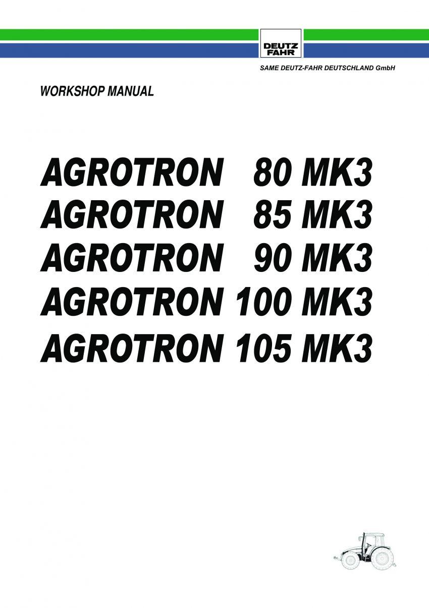 Brochure - Deutz-Fahr Agrotron 100, Agrotron 105, Agrotron 85 en Agrotron 90