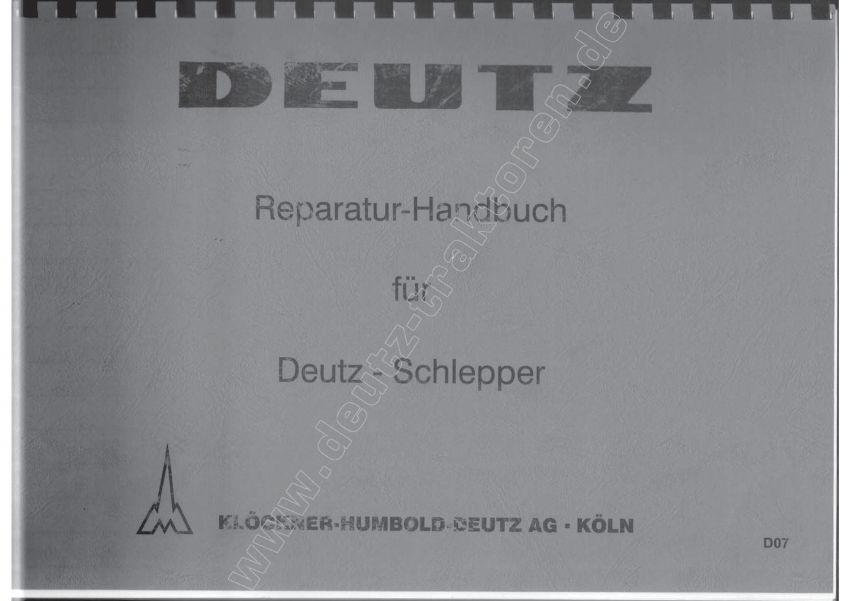 Deutz F1-F2 - Handboek Reparaties