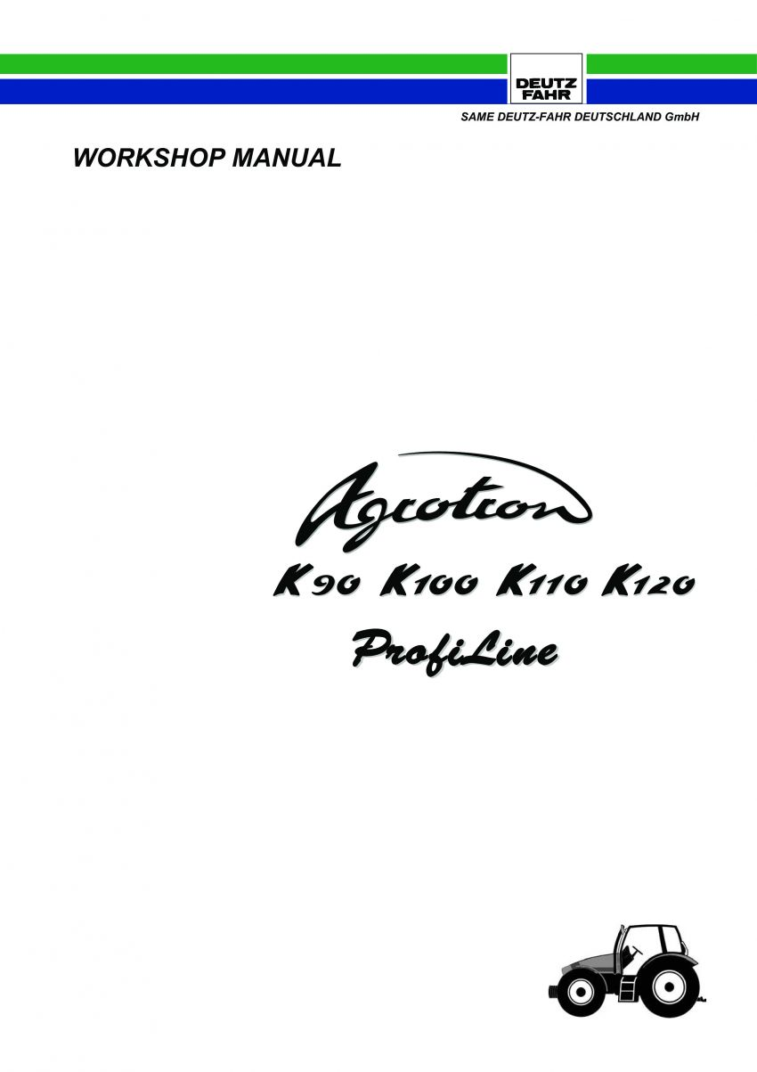 werkplaatsboek deutz-fahr agrotron k90, 100, 110, 120 profiline