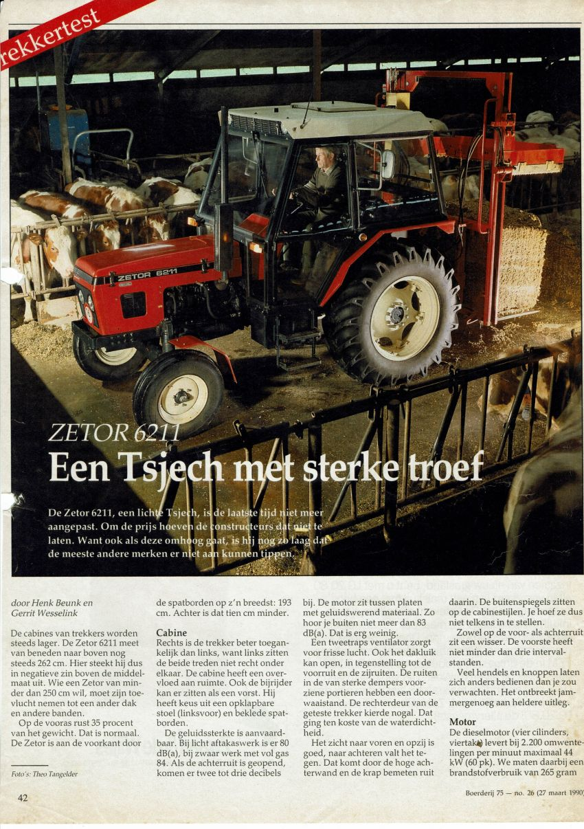 Zetor 6211 Boerderij Test door Henk Beunk en Gerrit Wesselink