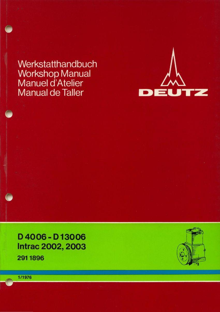 Deutz 06 & Intrac - Werkplaatshandboek remsysteem perslucht