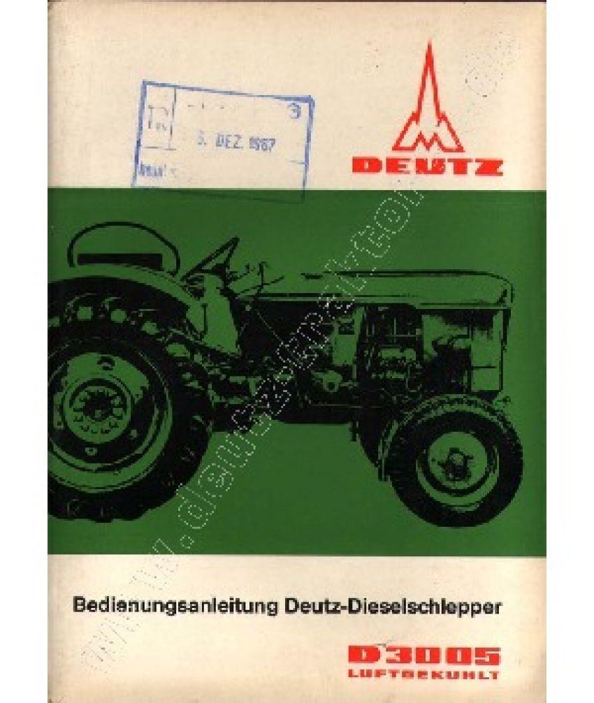 Deutz D3005 - Bedieningshandleiding