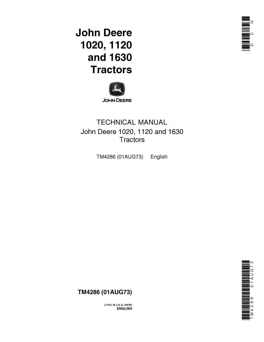 Brochure - John Deere 1020, 1120 en 1630