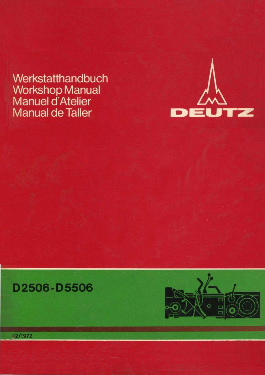 Deutz 06 - Werkplaatshandboek transmissie en achterbrug