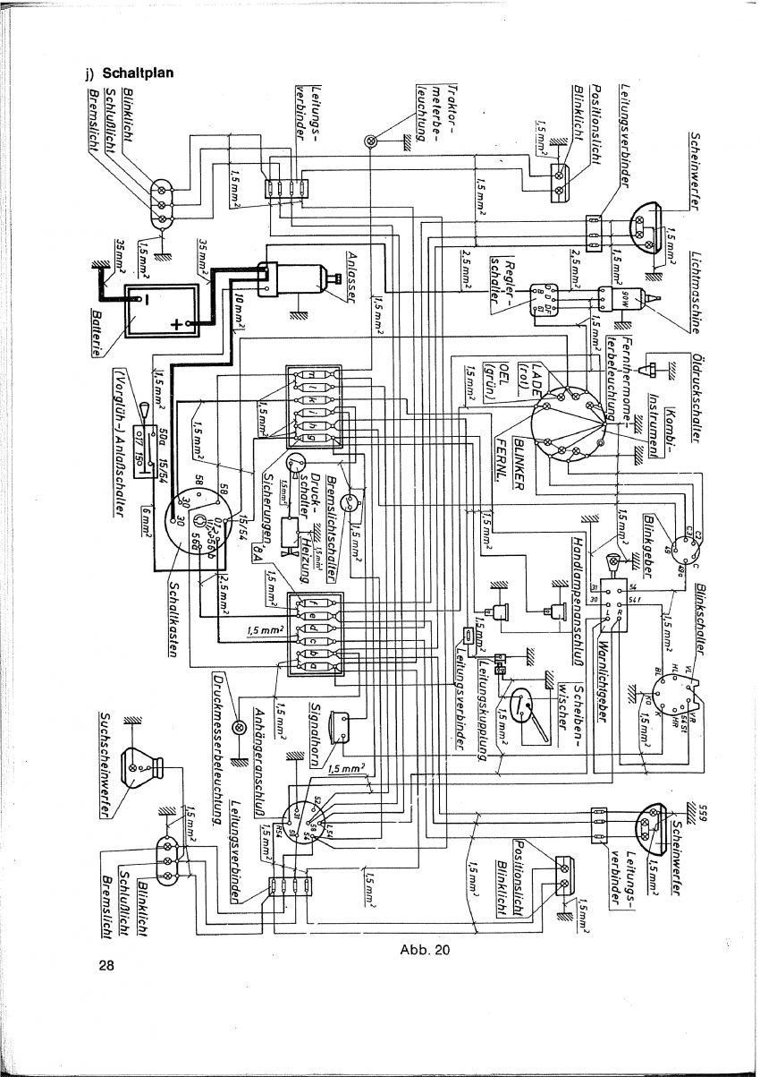 Elektrisch Schema Fendt 100 serie