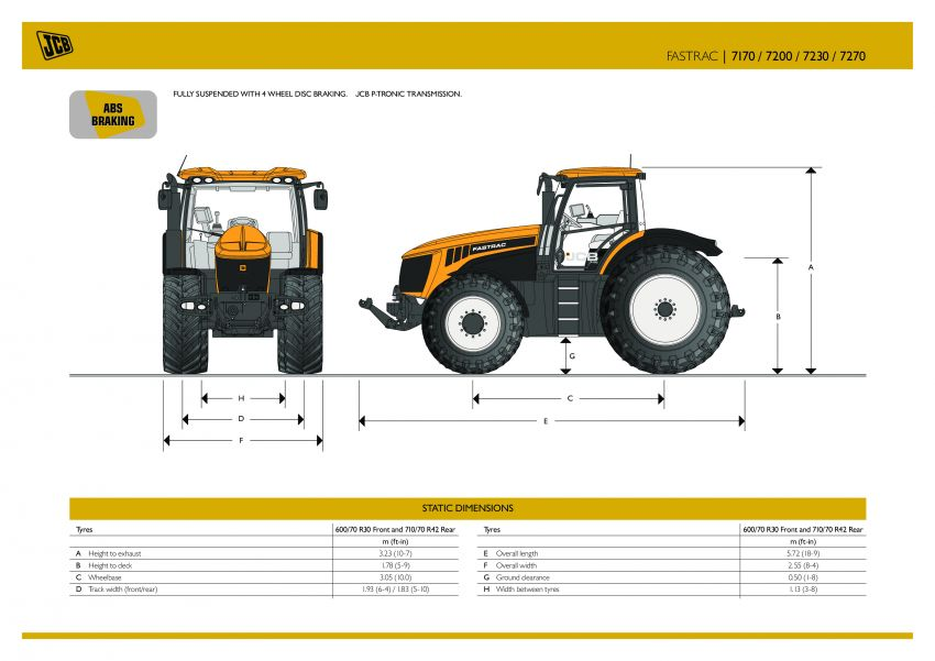 JCB 7000 Series Specifications