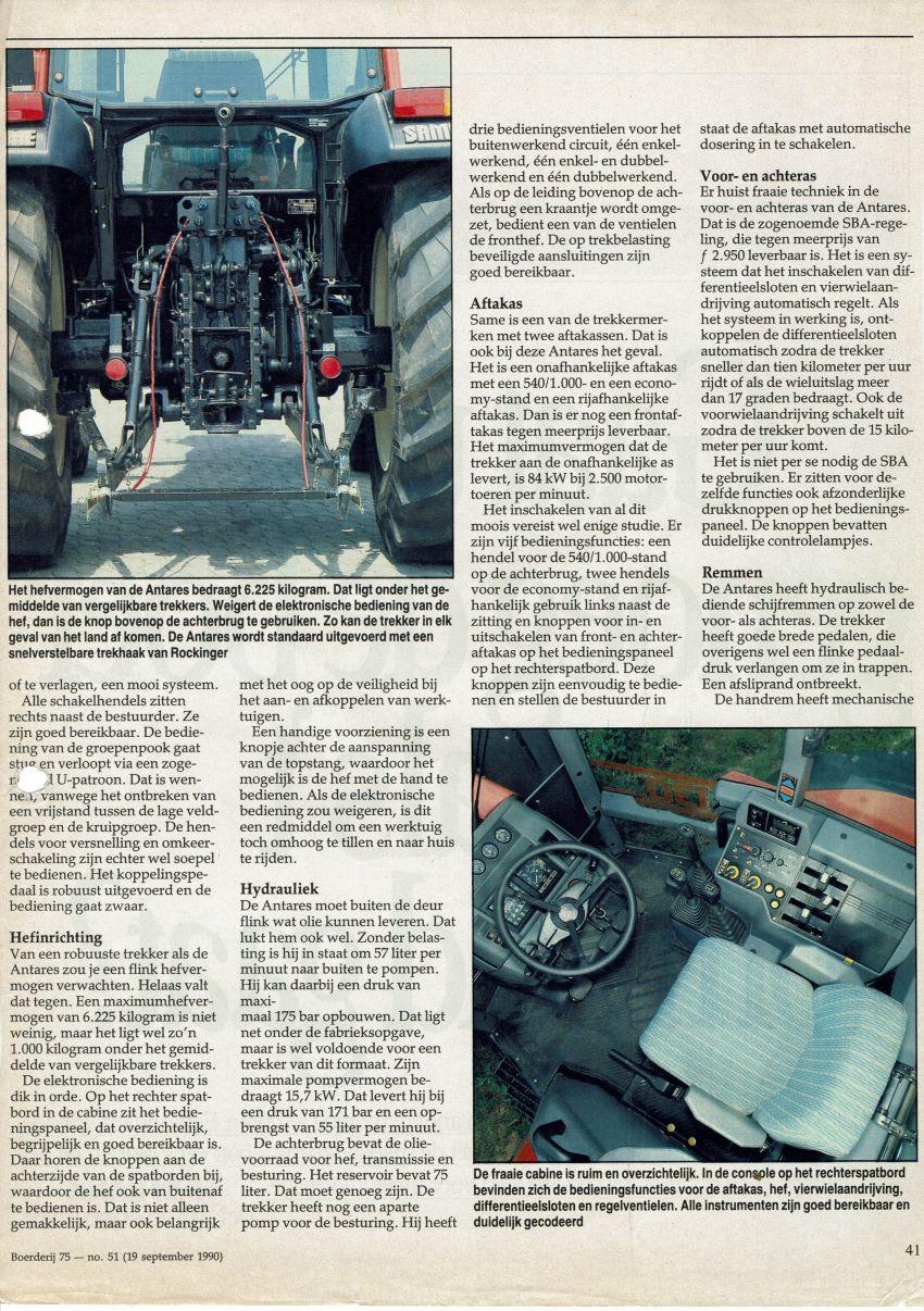 Same Antares 130 Boerderij test door Ad Bal en Leo Hanse