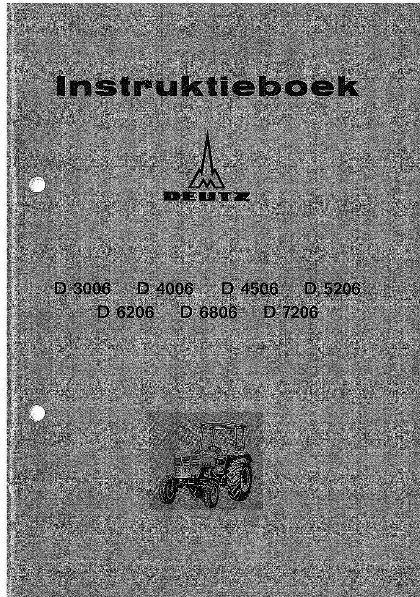 Instructieboek Deutz D3006 - D7206