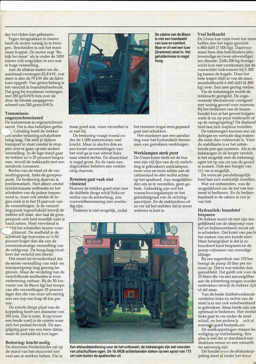 Ursus Bison 212 Boerderij Test door Gerrit Wesselink en Henk Beunk