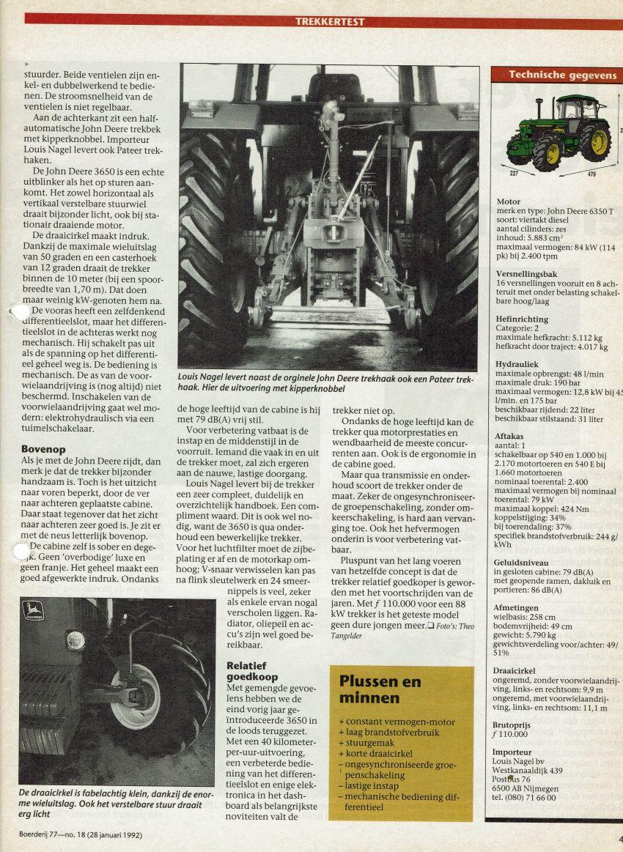 John Deere 3650 T Boerderij Test door Gert Vreemann