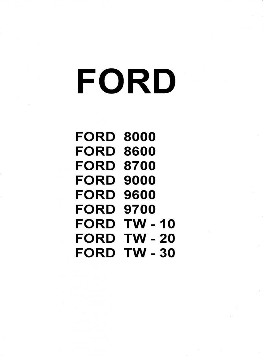 werkplaatshandboek Ford series TW, 8700, 9700, 8600, 9600, 8000, 9000
