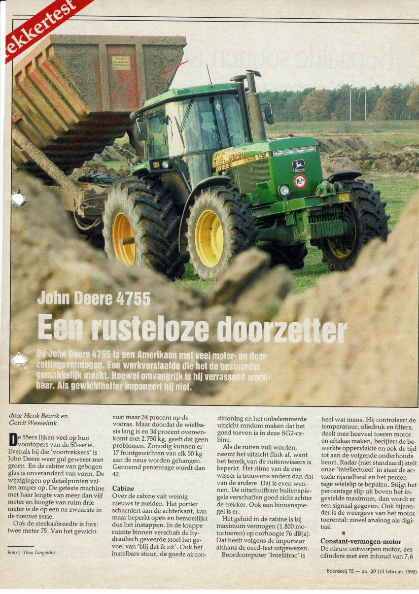 John bdeere 4755 Boerderij  test door Henk Beunk en Gerrit Wesselink
