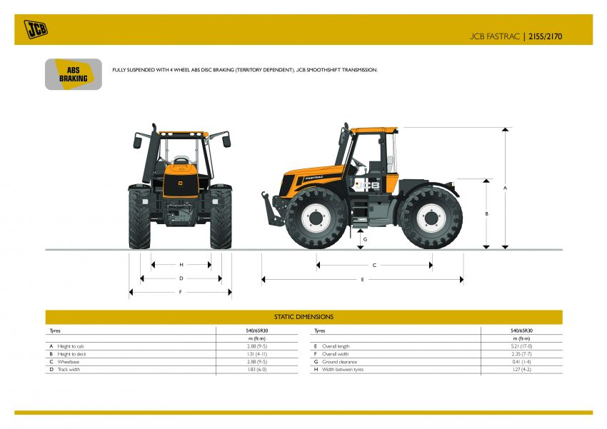 JCB 2000 Series Specifications
