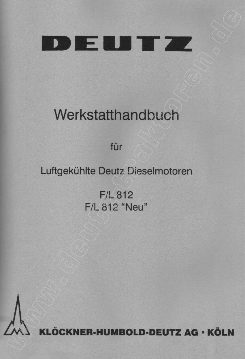 Deutz F/L812 Werkplaatshandboek