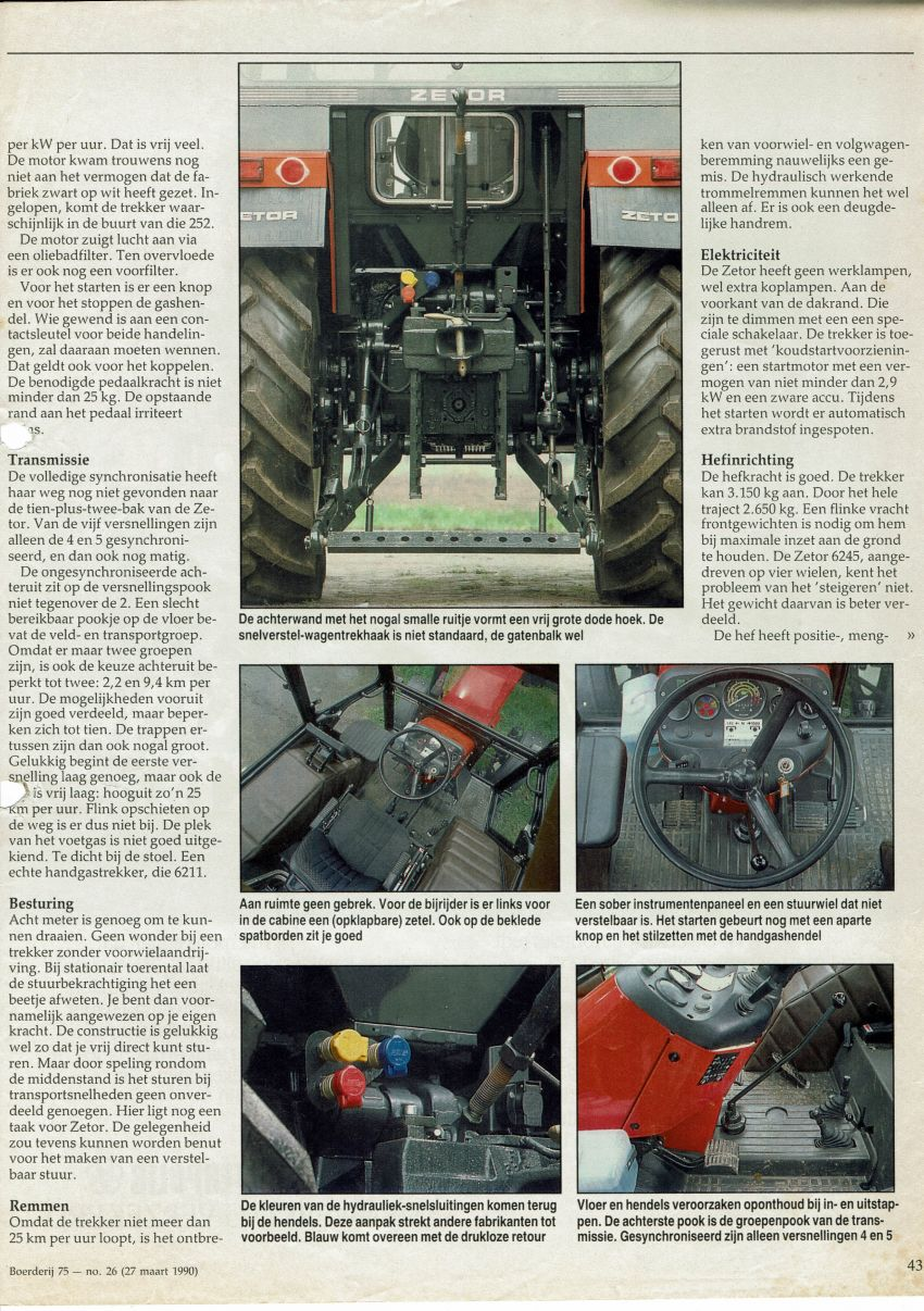 Zetor 6211Boerderij test door Henk Beunk en Gerrit Wesselink