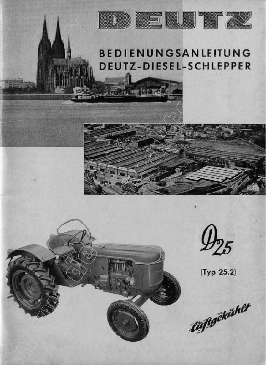 Deutz D25 - Bedieningshandleiding