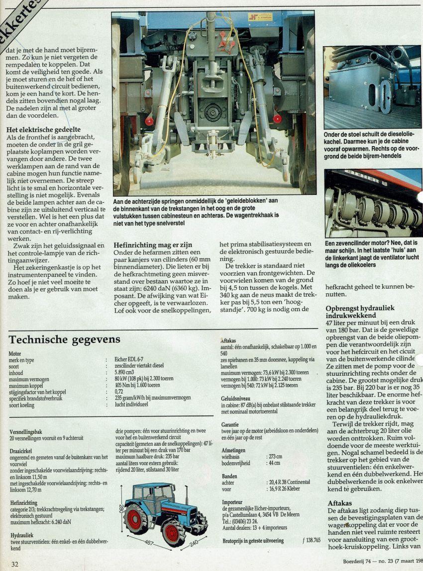 Eicher 3108 Boerderij test door Henk Beunk en Gerrit Wesselink